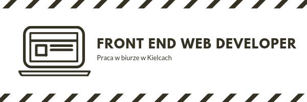 Front End Web Developer - ogłoszenie