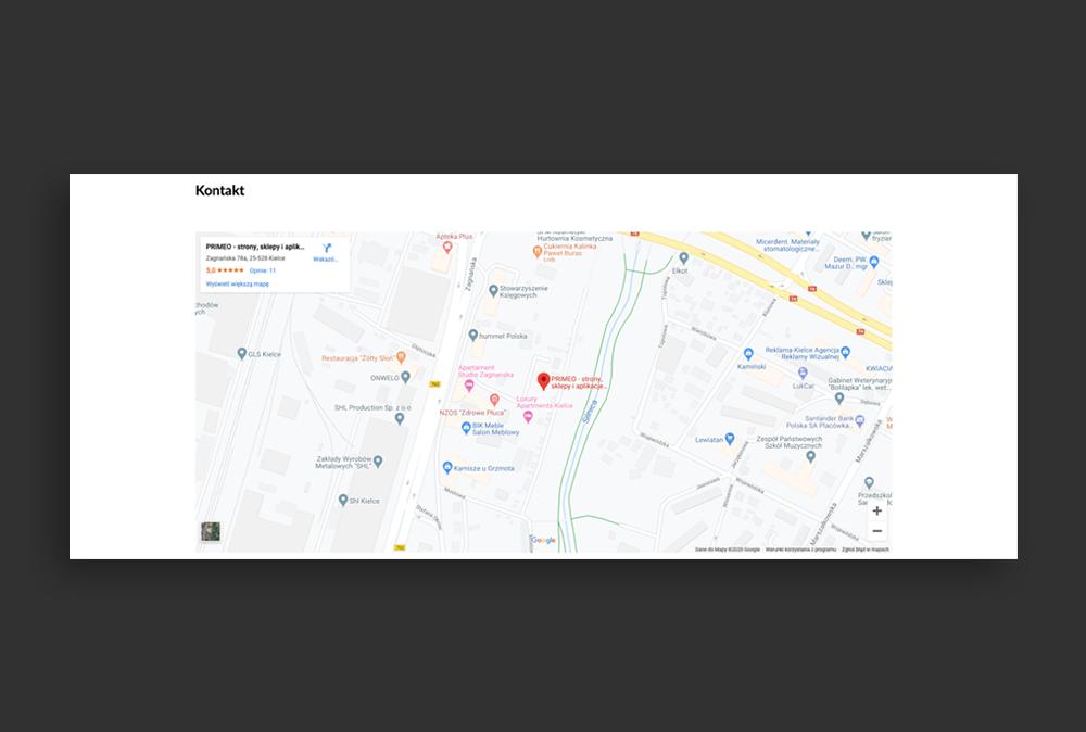 Mapa Google na stronie www